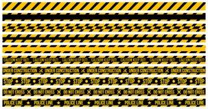 vectorreeks voorzichtigheidsbanden op whit e achtergrond De illustratie bestaat uit Voorzichtigheid uit houdt, kruist niet, Lijn  royalty-vrije illustratie