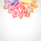 Vectorregenboogwaterverf geschilderde bloem op witte achtergrond stock illustratie