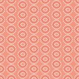 Vectorroze en room geometrische naadloos van stercirkels herhaalt patroon vectorachtergrond royalty-vrije illustratie