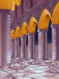 Vectorruïne van de bouw royalty-vrije illustratie