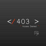 Vectors Abstract background 403 connection error Access Denied Stock Photos