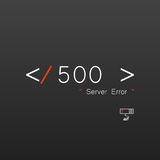Vectors Abstract background 500 connection error server.  royalty free illustration