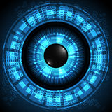 Vectors abstraktes Technologieauge des Hintergrundes lizenzfreie stockbilder