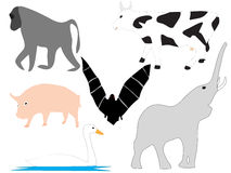 Vectors of animals. Vector illustration of different animals Royalty Free Stock Images
