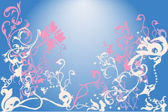 Vectors asia style backgrounds Stock Images