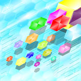 Vectors background  hexagon abstract colorful Stock Images