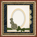 Vectors of the background with an oval frame Royalty Free Stock Image