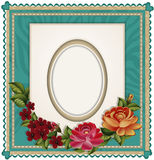 Vectors of the background with an oval frame Royalty Free Stock Images