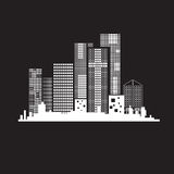 Vectors building black and white on  back ground Stock Photo
