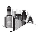 Vectors building black and white on white background Stock Photo