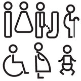 Vectors icon toilet symbol sign Royalty Free Stock Images