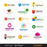 Flower logo set Stock Image