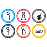 Vectors l'acquisto della toilette dell'icona di simbolo Fotografia Stock