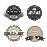 Vectors logos Vintage badges design Royalty Free Stock Photos
