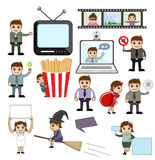 Vectors of Media and Business Concepts Stock Photography
