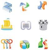 Vectors o jogo para o desenvolvimento do logotipo Fotografia de Stock