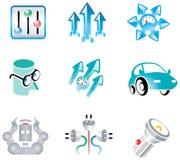 Vectors o jogo para o desenvolvimento do logotipo Foto de Stock Royalty Free