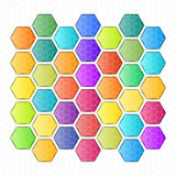 Vectors rounded Hexagon abstract background Stock Images