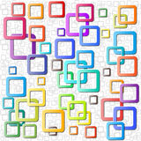 Vectors  rounded rectangle abstract background Royalty Free Stock Photo