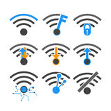 Vectors símbolo inalámbrico del Internet Imagenes de archivo