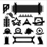 Vectors set ribbon black Royalty Free Stock Image
