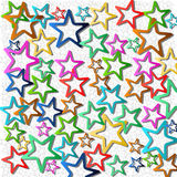 Vectors  star abstract background Royalty Free Stock Photos