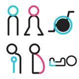 Vectors symbol icon toilet shopping Royalty Free Stock Photos