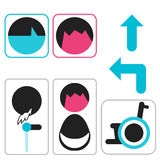 Vectors symbol icon toilet shopping Stock Image