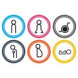 Vectors symbol icon toilet shopping Stock Photo