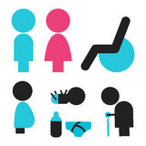 Vectors symbol icon toilet shopping Stock Image