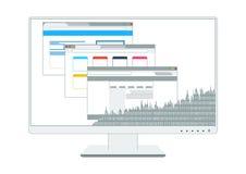 Vectors tech monitor computer e-commerce Stock Photography