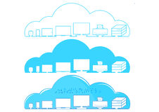 Vectors technology cloud network. Internet Stock Photography