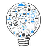 Vectors a tecnologia das ideias da lâmpada do símbolo Imagens de Stock Royalty Free