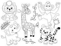 Vectorsafari animals royalty-vrije illustratie