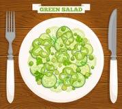 Vectorsalade van groene groenten Royalty-vrije Stock Foto's
