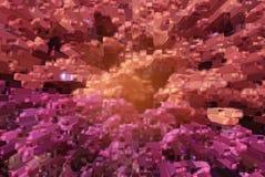 Vectorsamenstelling met net, gradiënteffect in roze kleur Stock Afbeeldingen