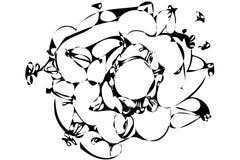 Vectorschets abstracte bloem Stock Fotografie