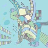 vectorschets met kubussen Stock Afbeeldingen
