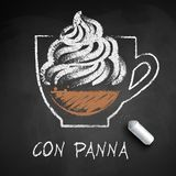 Vectorschets van Con Panna van de koffie van Wenen vector illustratie