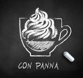 Vectorschets van Con Panna koffie royalty-vrije illustratie