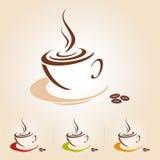 Vectorschets van koffiekop, pictogram Royalty-vrije Stock Afbeelding