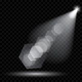 Vectorschijnwerpers Verlichting van de scène Transparant licht royalty-vrije illustratie