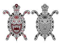 Vectorschildpad, tatoegeringsstijl Stock Afbeelding