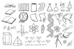 Vectorset de la Science et d'éducation Images stock