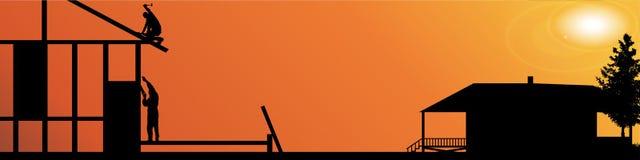 Vectorsilhouet van arbeiders Royalty-vrije Stock Afbeeldingen