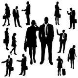 Vectorsilhouet van bedrijfsmensen Royalty-vrije Stock Foto's