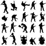 Vectorsilhouet van de band Stock Foto's