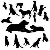 Vectorsilhouet van een hond Stock Afbeelding