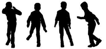 Vectorsilhouet van een jongen Stock Foto's