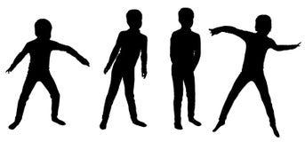 Vectorsilhouet van een jongen Royalty-vrije Stock Afbeelding